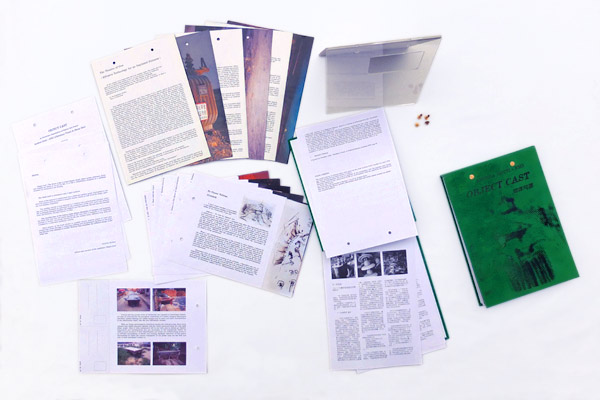Panoramic view of <em>Object Cast_The Book</em> components
